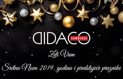 Srećna Nova 2019 godina i predstojeći praznici!