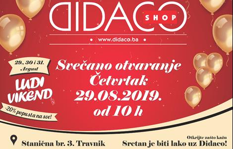 Otvaranje novog Didaco Shop-a u Travniku!