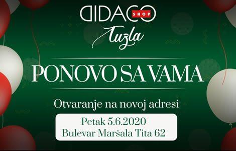 Didaco Shop PONOVO SA VAMA na novoj adresi u TUZLI