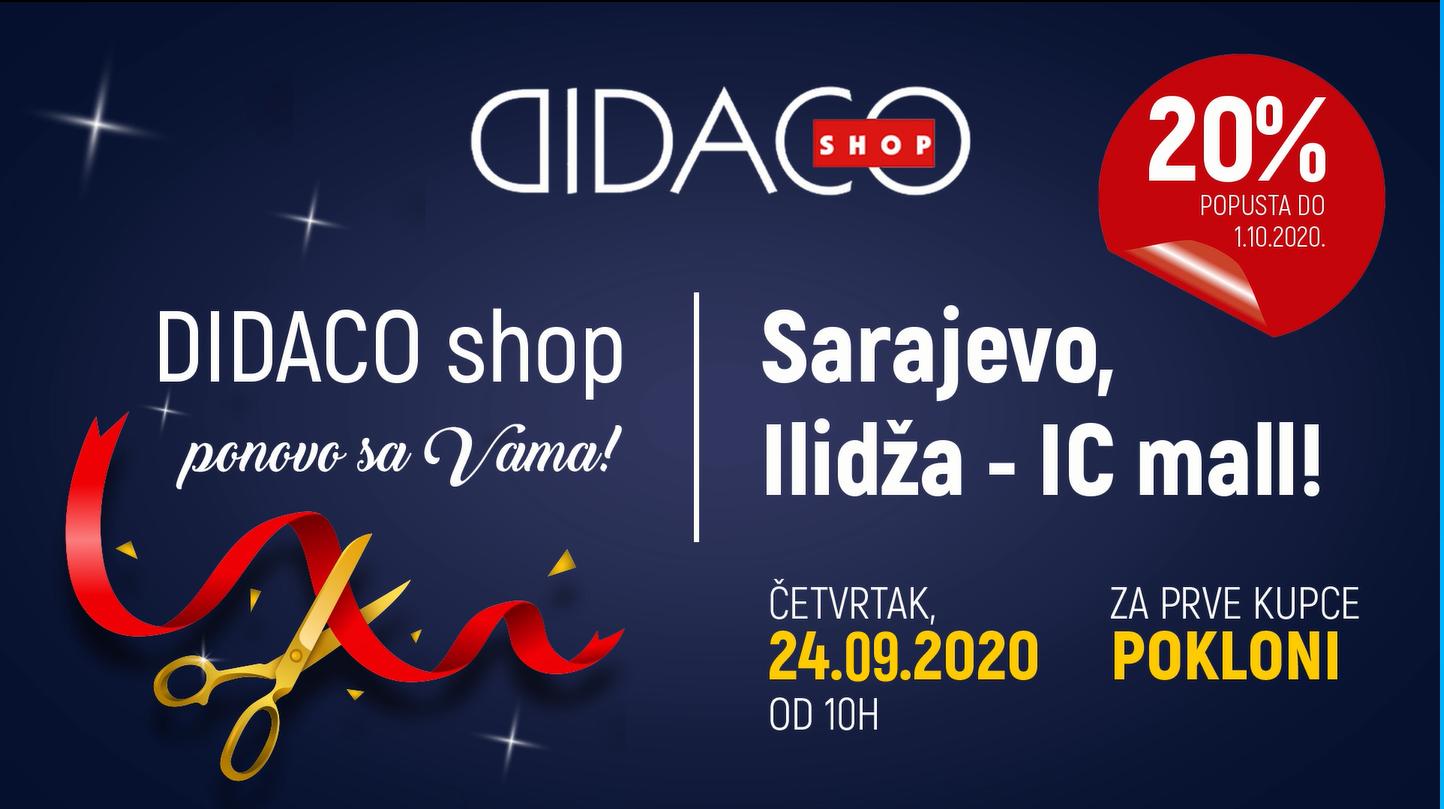 Didaco Shop Ildža otvaranje